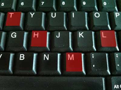 tastiera pc con le lettere HTML evidenziate