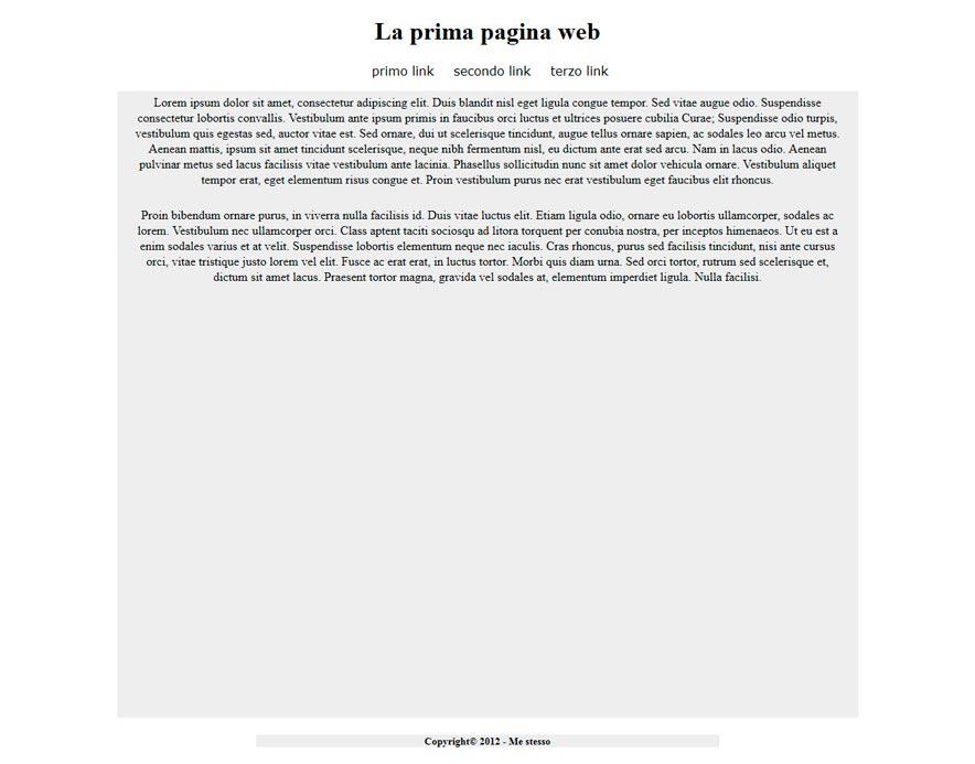 pagina html