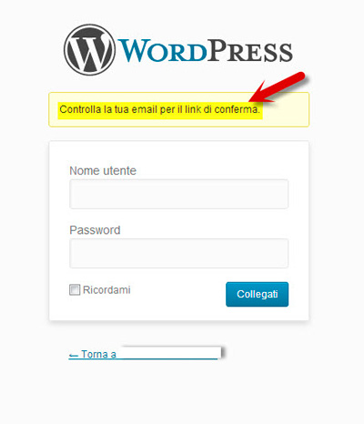 wordpress-login-conferma