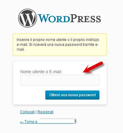 wordpress-login-nome-utente