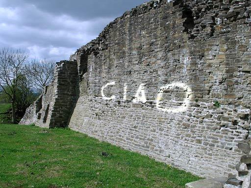 muro con scritta in prospettiva