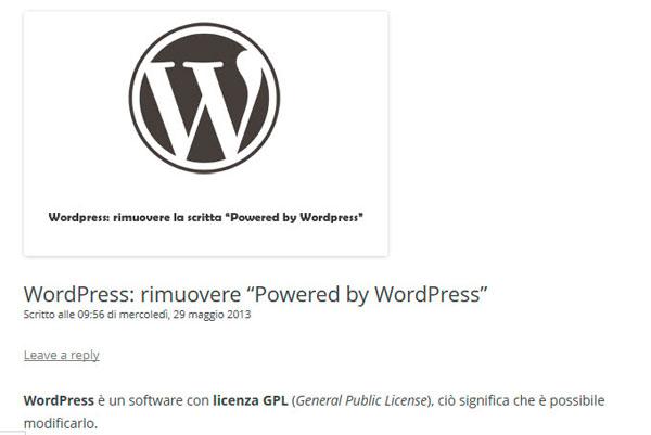 articolo WordPress
