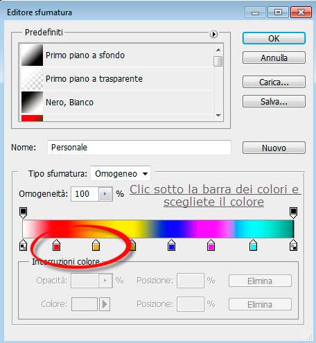 modifica gradiente