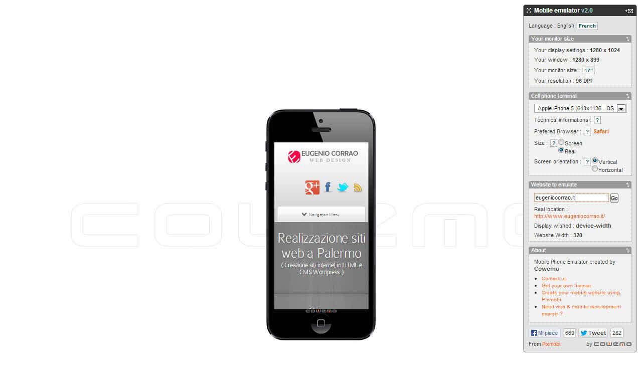 Testare un sito wordpress sui dispositivi mobili eugenio for Sito web di mobili di design