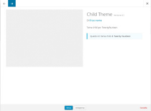anteprima child theme senza screenshot