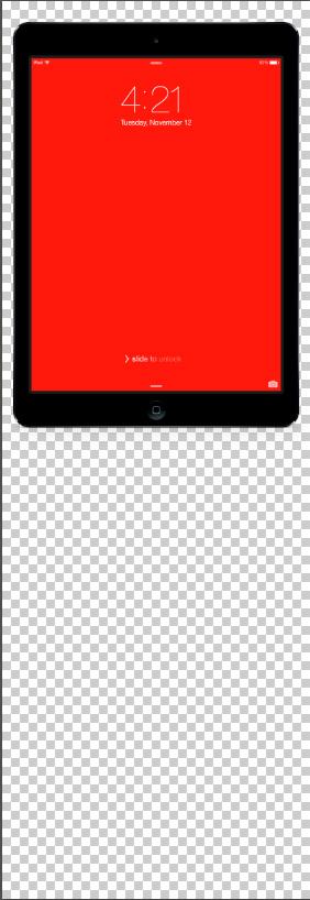 iPad reflection